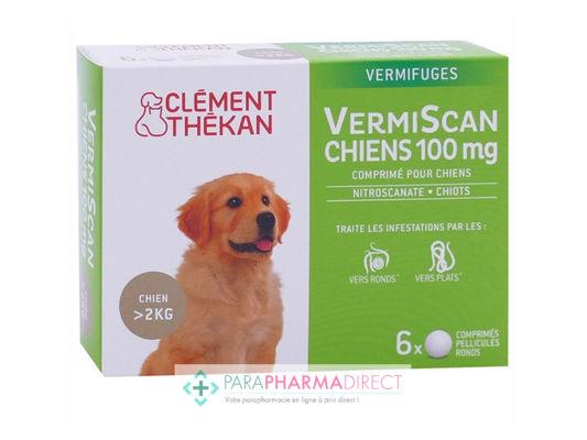 Clément Thékan VermiScan 100mg Vermifuge Chien 2 à 10 kg 6 ...
