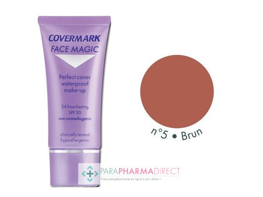 Corps / Beauté Covermark Face Magic Maquillage Camouflage Imperméable n°05 Brown 30ml : Teint pour Maquillage