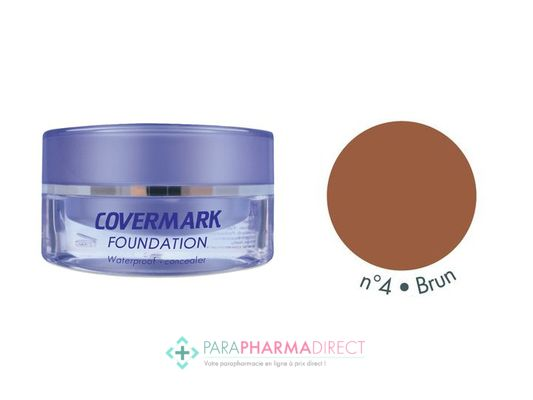 Covermark Foundation Fond de Teint Maquillage Camouflage Imperméable n°04 Brun 15ml