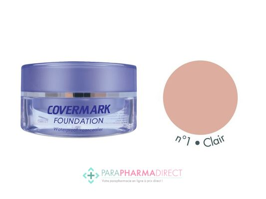 Covermark Foundation Fond de Teint Maquillage Camouflage Imperméable n°01 Clair 15ml
