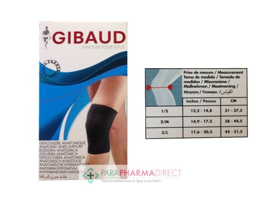 Nutrition / Sport Gibaud Genouillère AnatomiqueTaille M