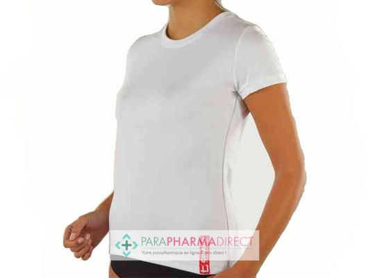 Nutrition / Sport Gibaud Tee-shirt Femme Blanc Technical Wear Taille L
