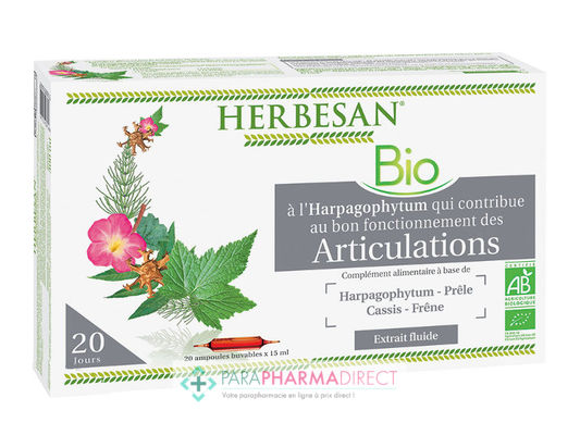 Nutrition / Sport Herbesan Complexe Harpagophytum Articulations BIO 20 ampoules