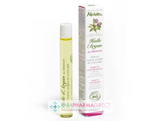 Melvita Huile d'Argan au Géranium BIO Roll-On 10ml