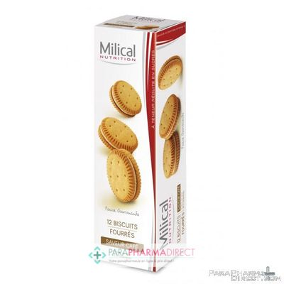 Nutrition / Sport Milical Biscuits Fourrés Saveur Café 12 biscuits
