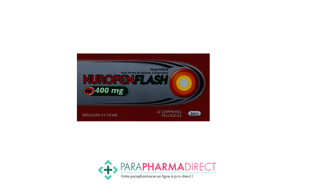Médicaments NUROFEN FLASH 400mg, 12 comprimes pellicules