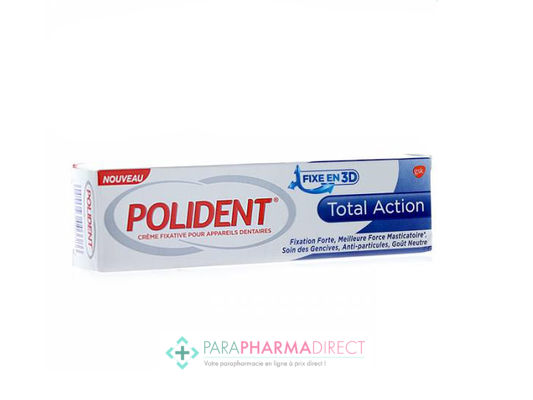 Polident Crème Fixative Total Action 40g