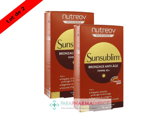 Nutrition / Sport Nutreov Physcience Sunsublim Bronzage Anti-Age Femme 45+ 2x28 Capsules