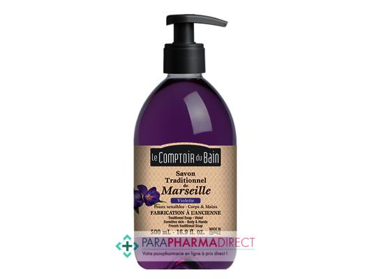 Le comptoir du bain savon liquide de marseille violette - Le comptoir du bain savon liquide de marseille ...