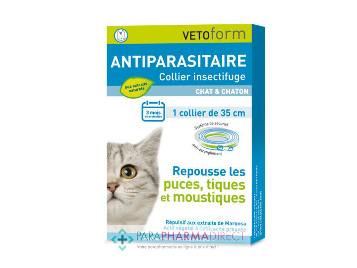 collier chat pharmacie
